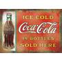 Placas Decorativas Coca Cola Propaganda Antiga Envelhecida