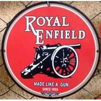 Placas Decorativas Moto Royal Enfield Antiga Vintage Logo