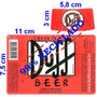 10 Rótulos Da Cerveja Duff Em Adesivos - Frete Grátis