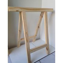 Cavalete Mesa Escritorio Madeira Studio Curi Pinus Reforçado