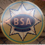 Placas Decorativas Moto Bsa Gold Star Antiga Vintage Logo