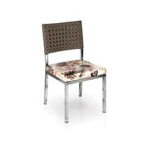 Cadeira Em Alumínio E Fibra Sintética Estofada