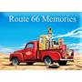 Placas Decorativas Route 66 Memories Pickup Bomba Gasolina