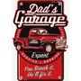 Placas Decorativas Dads Garage Pickup Antiga Oficina Mecanic