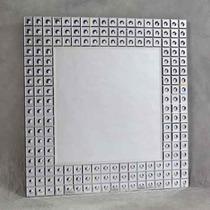 Espelho Bisote Para Salao De Beleza Moldura Quadrado