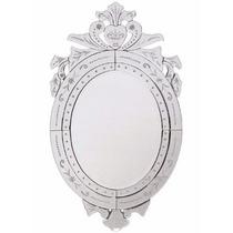 Espelho Veneziano Para Sala Jantar Grande Oval