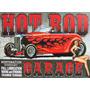 Placas Decorativas Hot Rod Garage 1 Old School Oficina