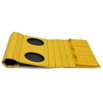 Esteira Bandeja De Sofá Porta Copos Controles Amarela Zarco