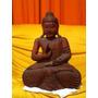 Buda De Madeira Importado De Bali 40 Cm Altura