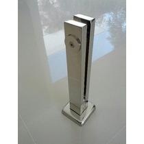 Coluna(torre) Inox Retangular Guarda Corpo Corrimão Vidro