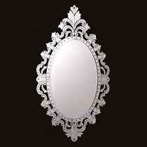 Espelho Veneziano Para Quarto Casal Grande Oval