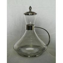 Decanter Cristal Bohêmia Em Estanho/vidro