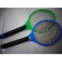 Raquete Elétrica Recarregável Mata Mosquito Dengue E Mosca