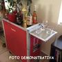 Carrinho Adega Para Vinhos, Porta Bebidas E Alimentos ( L )