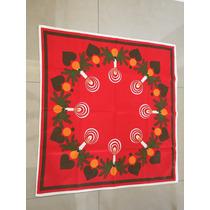 Toalha De Mesa - Natal - Vermelha - Desenho Velas - Perfeita