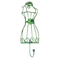 Pendurador Manequim/flor Verde - 1 Gancho - Em Ferro