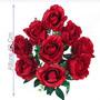 Bq C/ 9 Rosas Cores Diversas 42cm(45240)- Flores Artificiais