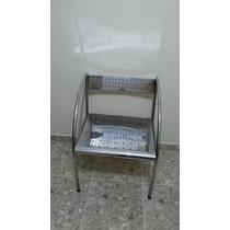 Cadeira Cromada Usada Barato