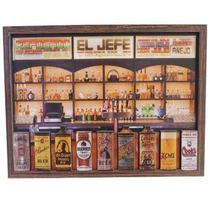 Quadro Relevo Adesivado Placa Bebidas Do Chefe Bar Cerveja