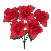 Bq Rosa X5 Vermelho 30cm(21546009) - Flores Artificiais