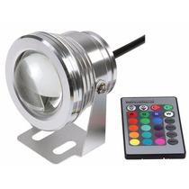 Refletor Holofote Super Led Rgbw 10w /12v Piscina