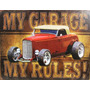 Placas Decorativas Hot Rod Garage My Garage My Rules
