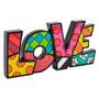Palavra Decorativa Love - Romero Britto - Em Resina