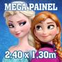 Painel Decoração Festa Infantil Frozen Peppa 2,40x1,30 M