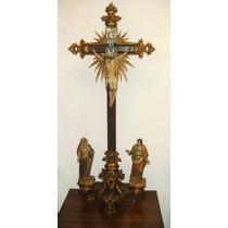 Cristo Crucificado Com Calvário Do Séc. Xix (ref.: 6688)