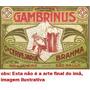 Imã De Geladeira Rotulo Antiga Brahma Gambrinus (reprodução)