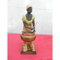 Escultura Antiga .escrava Século 18 Brasil Colonia