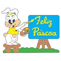 Painel De Pascoa ( Coelha Grande Pintora )