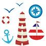 Adesivo Infantil Marinha Mar Barco Decorativo Quarto Bebe