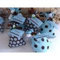 30 Lembrancinhas Nascimento Maternidade Chá Bebê Azul Marrom