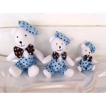 Ursos Azul E Marrom Decoração De Festa Infantil Chá De Bebê