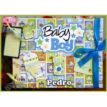 Álbum Fichário De Fotos / Recados Bebê Menino 3 - Scrapbook