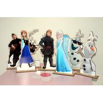 Kit Display De Mesa Frozen Com 6 Peças 30 Cm Em Mdf