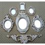 Kit 6 Espelhos Com Molduras Em Resina Estilo Ouro Provençal