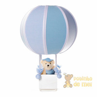 Abajur/ Luminária Balão Urso Menino Quarto Bebê E Infantil
