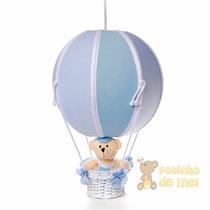 Lustre Grande Balão Balãozinho Cesta Urso Bebê Infantil