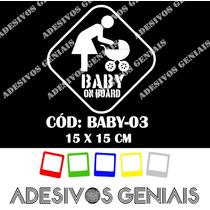 Adesivo Bebê A Bordo Criança Infantil Carro Berço Baby-03