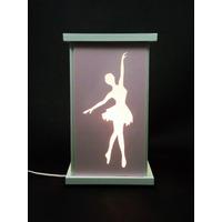 Luminária Abajur Bailarina Quarto De Menina Ballet Rosa
