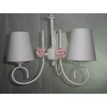 Lustre Luminária Quarto De Bebê Menino E Menina - C/ Cupula