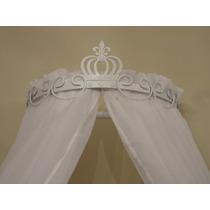 Dossel Coroa Imperial Branco Para Mosquiteiro De Berço