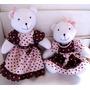 Urso Grande Tecido Decoração De Festa Infantil Rosa E Marro
