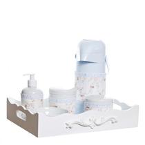 Kit Higiene Bandeja Arabesco Porta Álcool-gel Bebê Com Capas
