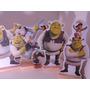 Kit 6 Displays De Mesa Shrek Fiona Enfeite 20cm Totem Mdf