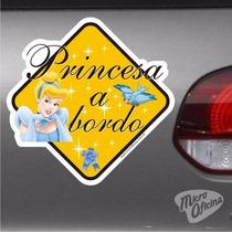 Adesivo Bebê A Bordo - Princesa A Bordo - Cinderela