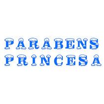 Letreiro Parabens Princesa Frozen Neve P Festa Aniversário
