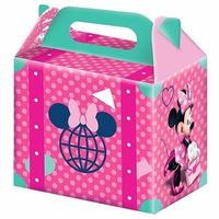 Caixa Surpresa Aniversário Festa Infantil Minnie Rosa 16 Uni